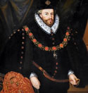 Portrait of Sir Christopher Hatton as Lord Chancellor and Knight of the Garter c.1589