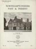 Cover of NP & P showing  Delapre Abbey: Part of the West Front, 1956