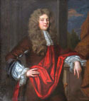 photograph of Sir Godfrey Kneller's painting of Sir Justinian Isham c.1684